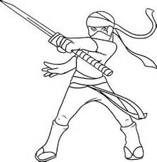 Ninja Pictures To Print Colouring Pages 7