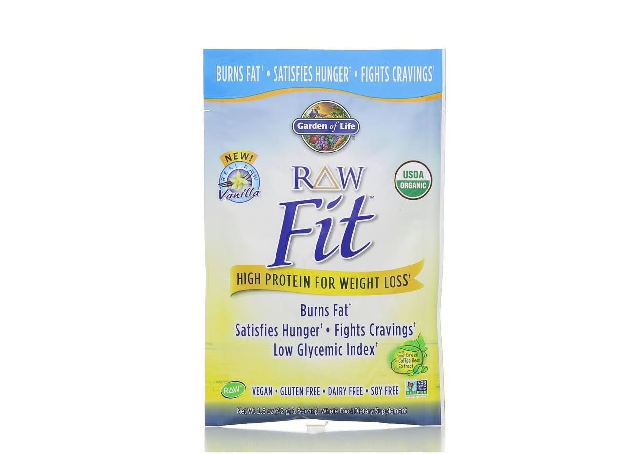 Garden of Life Raw Fit High Protein for Weight Loss, Vanilla - 1.5 oz