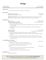 Biology Lecturer Resume Sales
