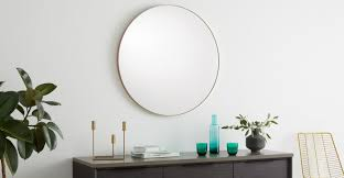 arles large mirror 85cm brushed gold made