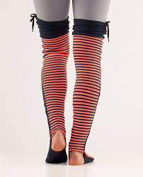 lululemon eternal legwarmers ii classic stripe light flare