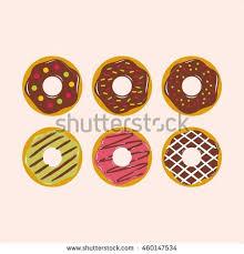 Donut illustration vector