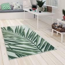 in und outdoorteppich palmen design grün beige
