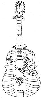 Printable Guitar Coloring Pages Colors