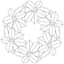 Best Printable Poinsettia Flowers Coloring Pages For Kids