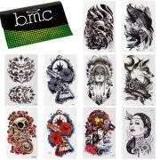 BMC 10pc Stylish Large Statement Temporary Water Transfer Fashion Tattoos Set