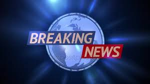Breaking News Broadcast Graphics Motion Title Blue Background Stock Video