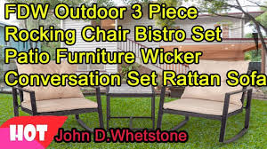 FDW Outdoor 3 Piece Rocking Chair Bistro Set Patio Furniture ... Awesome 3 Piece Garden Set Fniture Rattan Outdoor Chair Cloud Mountain Wicker Rocking Black Rock Bistro Comfortable Modern Easy Assembly Patio Lawn 2piece Tiana Resin Rocker Chairs Green Cushions 31556420 Amaya Swivel With Cushion Of 2 By Christopher Knight Home Wicker Rocker Chair Florals Cushionsset Polywood Presidential Woven For Ideas Amazoncom Alcott Hill French Roast Sets Sale Nursery Red Eaging Weather Interiors Maui Camelback Steel 1