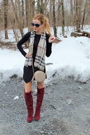 sweater dress with knee high boots cashmere sweater england