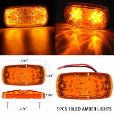Shop For Auto Lighting Amber Clearance Double Bullseye 10 Diodes LED ... Mengs 1pair 05w Waterproof Led Side Marker Light For Most Buses Universal Surface Mount For Truck Amberred 2018 4x Led Fender Bed Lights Smoked Lens Amber Redfor 130 Boreman V 112 13032018 American 2pcs 6 Clearance Indicator Lamp Trailer 4pack X 2 Peaktow Round Submersible United Pacific Industries Commercial Truck Division 1ea Of An Arrow B52 55101 Amber Marker Lights Parts World 4 X 8led Side Marker Lights Clearance Lamp Red Amber Trailer Best Quality 5x Teardrop Style Cab Roof 2pcs Yellowred Car