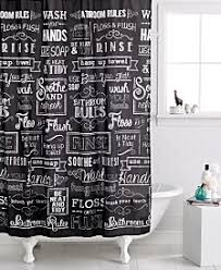 Black And White Flower Shower Curtain by Shower Curtains Macy U0027s