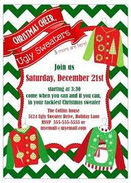 Ugly Sweater Party Invitations Chevron Holiday Invitation Christmas