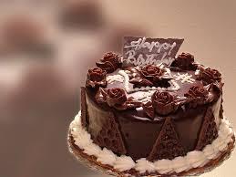 big chocolate cake wish you happy birthday wallpaper Wallpaper