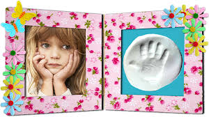 cadeau photo empreinte ou pied pour maman fête des mères