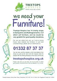 Good quality furniture required Treetops Hospice Care