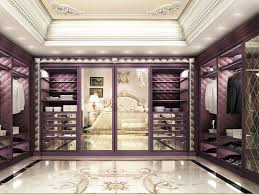 French Montana Marble Floors by Luxury Walk In Closet Custom Built In Cabinets Purple With Marble