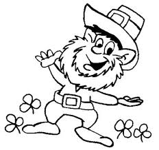 St Patricks Day This Leprechaun Doing Dance Coloring Page