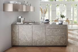 graue kücheninsel in marmor optik nolte kuechen