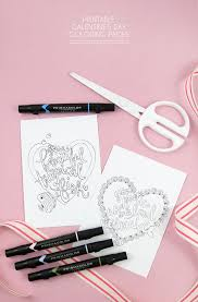 Printable Coloring Cards For Galentines Day Print And Color These Cute Your Friends