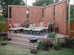 Backyard Patio Decorating Ideas by Exteriors Terrific Small Deck Design Ideas With Curved Patio