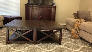 Build Large Coffee Table by Ana White Rustic X Square Oversized Coffee Table Diy Projects