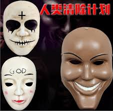The Purge God Mask Halloween by The Purge Mask Anarchy Mask Horror Purge Masked Men