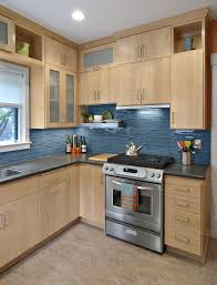 blue glass backsplash kitchen traditional with mosaic tile san diego