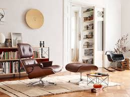 Eames Lounge Chair - Black Pigmented Walnut Eames Lounge Chair And Ottoman New Dimeions By Charles Ray Haus Herman Miller Drawings Dimeionsguide Style 100 Molded Plywood Armchair Vitra Avocado Green Leather 1967 White Polished Walnut Classic Xl Santos Palisander Brandy Black Eames Lounge Ottoman Retro Obsessions