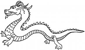 Coloring Pages Dragons Chinese Dragon Intended For Page