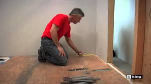 Suntouch Heated Floor Not Working by King Electric Floor Heating Cable Systems Installation Youtube