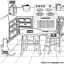 Coloring Page Kitchen Room Buildings And Architecture 7