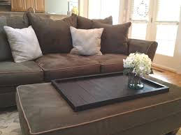 Dark Brown Couch Living Room Ideas by Furniture Inspiring Large Ottoman Tray For Home Furniture Ideas