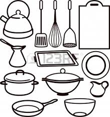 Cooking Utensils Drawing Clipart Panda Free Images 9 Kitchen Utensil Colouring Pages