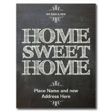 We Have Moved New Address Chalkboard Postcard