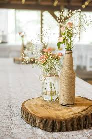 Rustic Table Centerpieces Wedding Ingenious Ideas Centerpiece Lovely Mas On Shabby Chic Garden Inspired