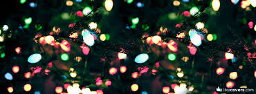 Christmas Lights Zoomed In On Tree Branches Facebook Covers