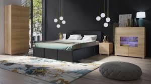 schlafzimmer komplett set 5 tlg labri schwarz sonoma eiche matt