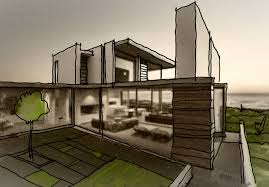 Modern House Design Sketch   ARCH-student.com Stunning Bedroom Interior Design Sketches 13 In Home Kitchen Sketch Plans Popular Free 1021 Best Sketches Interior Images On Pinterest Architecture Sketching 3 How To Design A House From Rough Affordable Spokane Plans Addition Shop For Simple House Plan Nrtradiant Com Wning Emejing Of Gallery Ideas And Decohome Scllating Room Online Pictures Best Idea Home