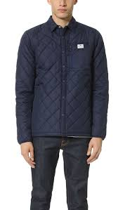 penfield courtland quilted shirt jacket in blue for men lyst