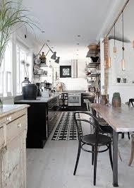 tapis pour la cuisine tapis de cuisine noir et blanc déco tapis de cuisine