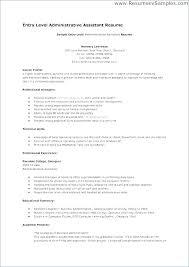 Health Administrative Assistant Resume Hospital Samples