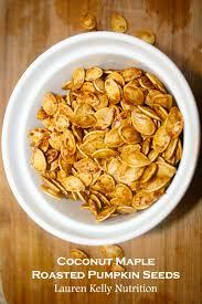Unsalted Pumpkin Seeds Recipe by Coconut Maple Roasted Pumpkin Seeds Vegan Gluten Free Dairy Free