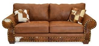 Cowhide And Microfiber Sofa