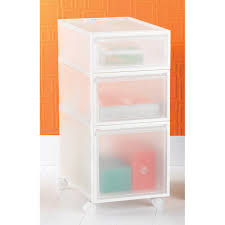 Plastic Drawers On Wheels by Like It Clear Stackable Drawers The Container Store
