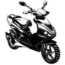 details zu scooter mofa wandtattoo vespa roller motorrad aufkleber dekoration wohnzimmer