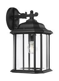 84031 12 one light outdoor wall lantern black