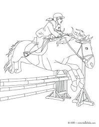 Horse Jumping Coloring Pages Woman On Online Page Sport Equestrian