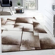 designer teppich kurzflor wohnzimmer meliert karo muster in
