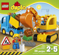 Lego Duplo Town Truck & TRACKED Excavator 10812 Best Gift For 1 ...