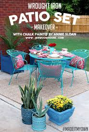 Replacement Patio Chair Slings Uk by How To Paint Patio Furniture With Chalk Paint